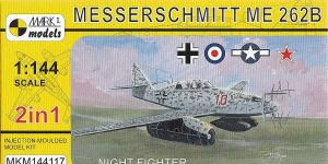 Messerschmitt Me 262B in 1:144 von Mark1Models #144117