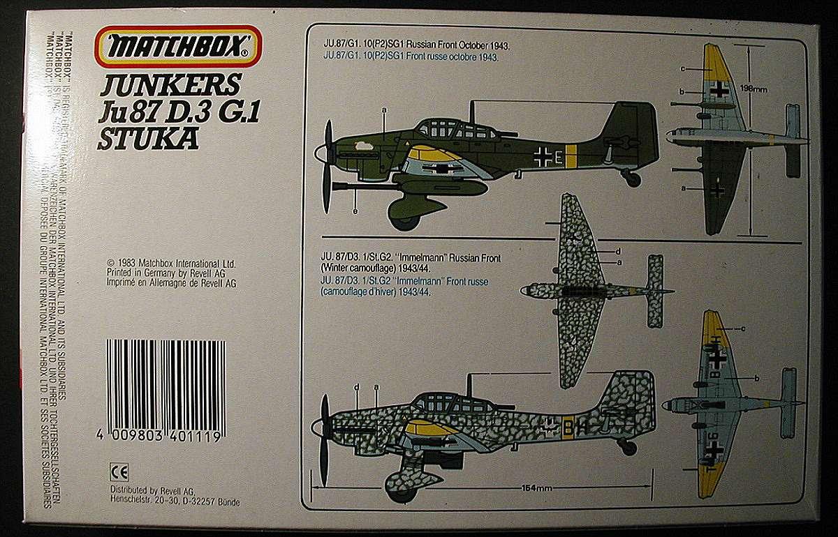 Matchbox-PK-111-Ju-87-D-und-G-Stuka-5 Kit-Archäologie: Ju 87 Stuka in 1:72 von Matchbox #PK 111