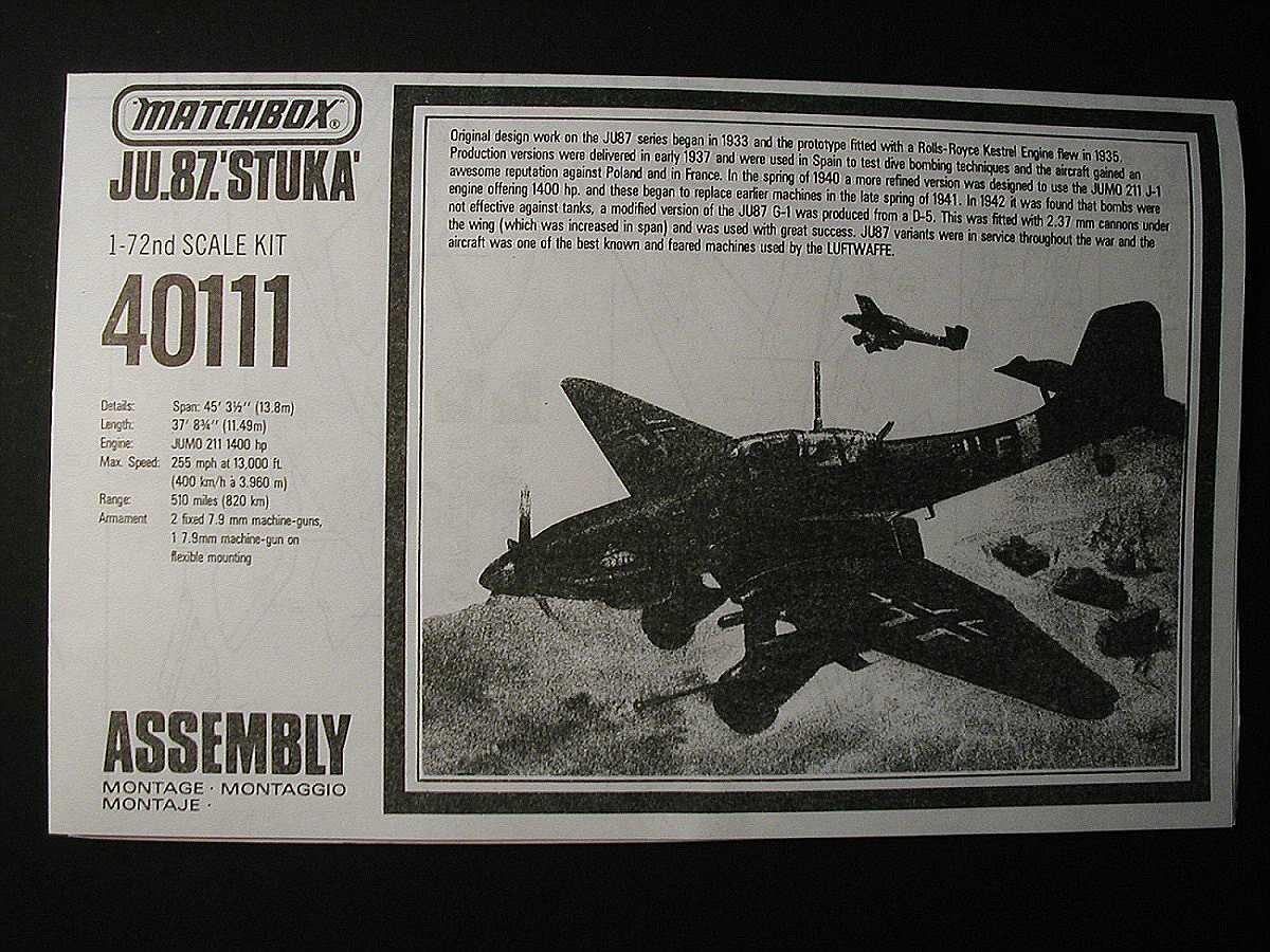 Matchbox-PK-111-Ju-87-D-und-G-Stuka-7 Kit-Archäologie: Ju 87 Stuka in 1:72 von Matchbox #PK 111