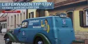 Lieferwagen Typ 170V German Beer Delivery Car in 1:35 von MiniArt #38035