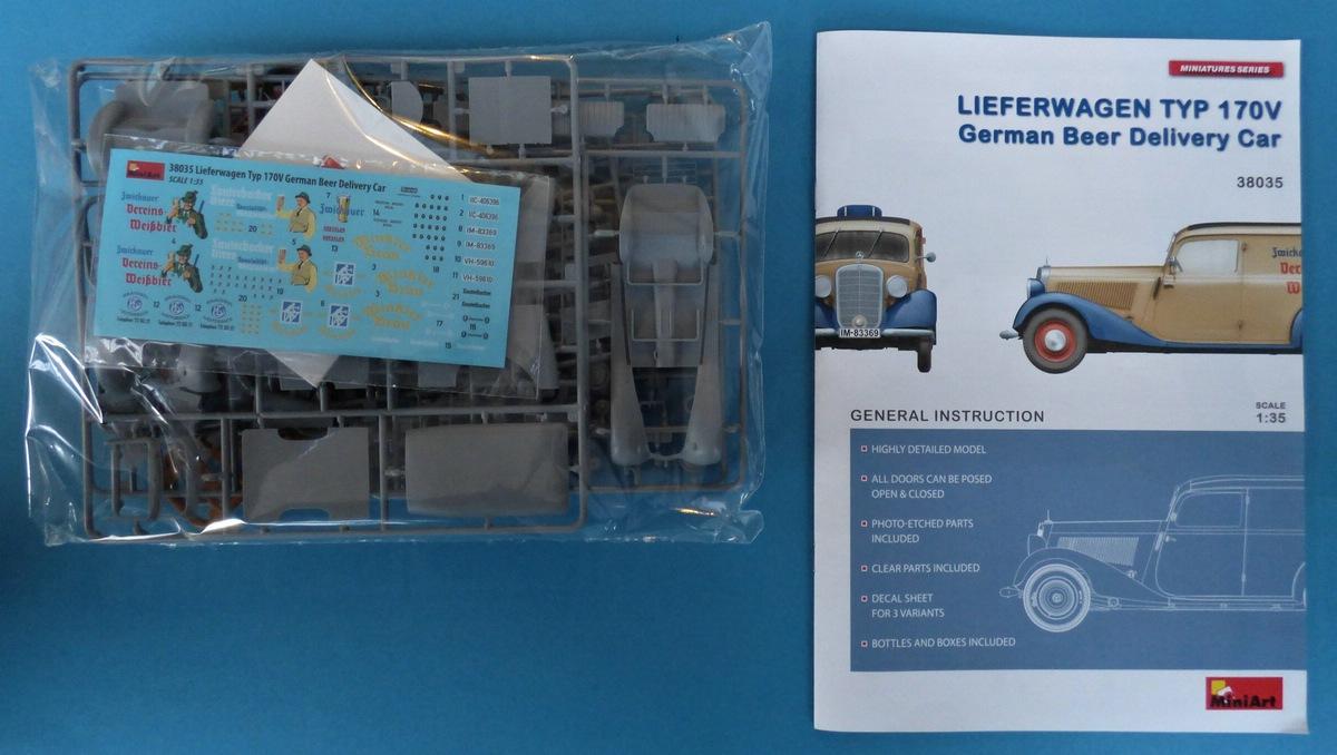 MiniArt-38035-Lieferwagen-Typ-170V-Beer-Delivery-2 Lieferwagen Typ 170V German Beer Delivery Car in 1:35 von MiniArt #38035