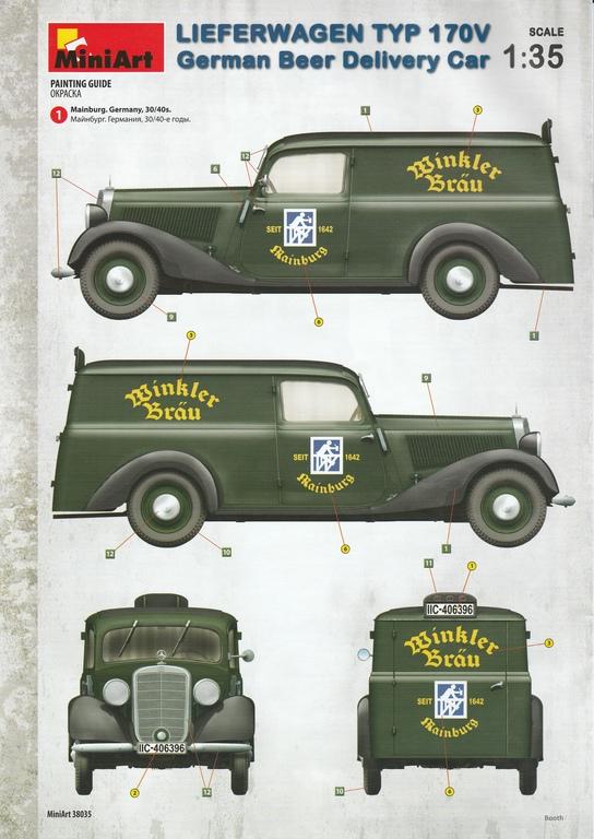 MiniArt-38035-Lieferwagen-Typ-170V-Beer-Delivery-44 Lieferwagen Typ 170V German Beer Delivery Car in 1:35 von MiniArt #38035