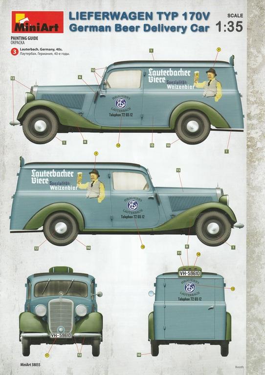 MiniArt-38035-Lieferwagen-Typ-170V-Beer-Delivery-46 Lieferwagen Typ 170V German Beer Delivery Car in 1:35 von MiniArt #38035