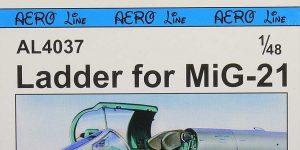 Einstiegsleiter für MiG-21 in 1:48 von PlusModel #AL-4037