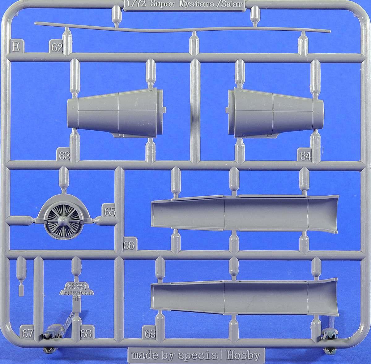 Special-Hobby-72417-SMB-2-Duo-Pack-Rahmen-E-1 Super Mystère SMB-2 als Duo Pack in 1:72 von Special Hobby # 72417
