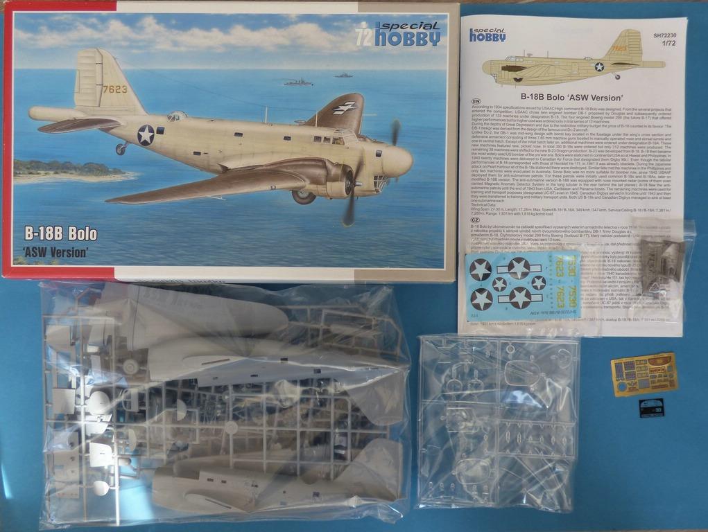 """Special-Hobby-SH-72230-Douglas-B-18-Bolo-ASW-2 Douglas B-18B Bolo """"ASW Version"""" in 1:72 von Special Hobby #SH72230"""
