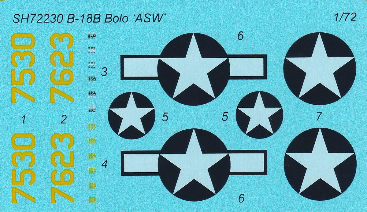 """Special-Hobby-SH-72230-Douglas-B-18-Bolo-ASW-36 Douglas B-18B Bolo """"ASW Version"""" in 1:72 von Special Hobby #SH72230"""