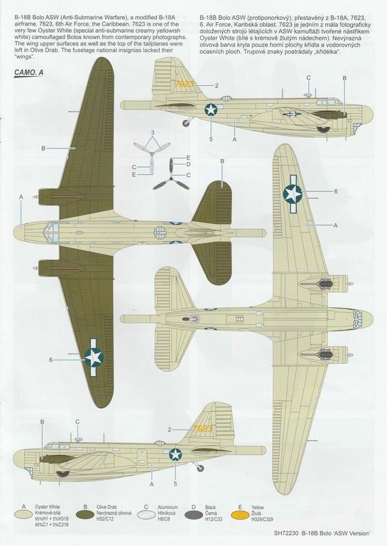 """Special-Hobby-SH-72230-Douglas-B-18-Bolo-ASW-45 Douglas B-18B Bolo """"ASW Version"""" in 1:72 von Special Hobby #SH72230"""