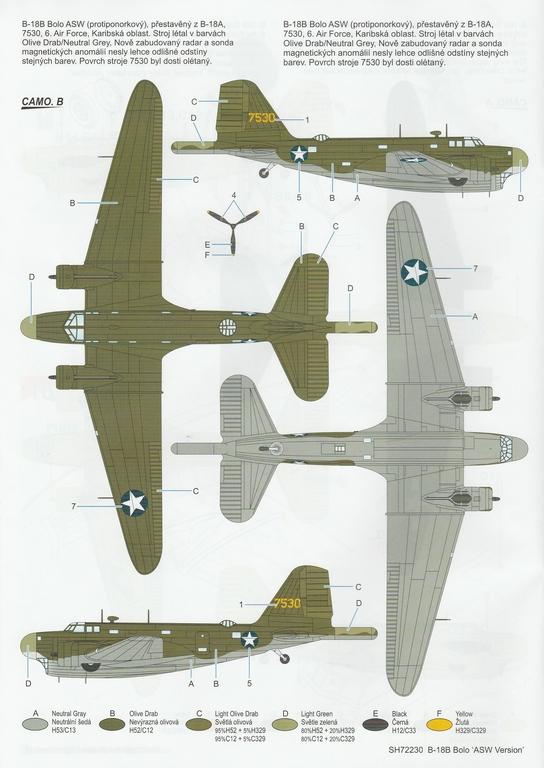 """Special-Hobby-SH-72230-Douglas-B-18-Bolo-ASW-46 Douglas B-18B Bolo """"ASW Version"""" in 1:72 von Special Hobby #SH72230"""
