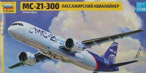 Verkehrsflugzeug MS-21-300 in 1:144 von Zvezda #7033