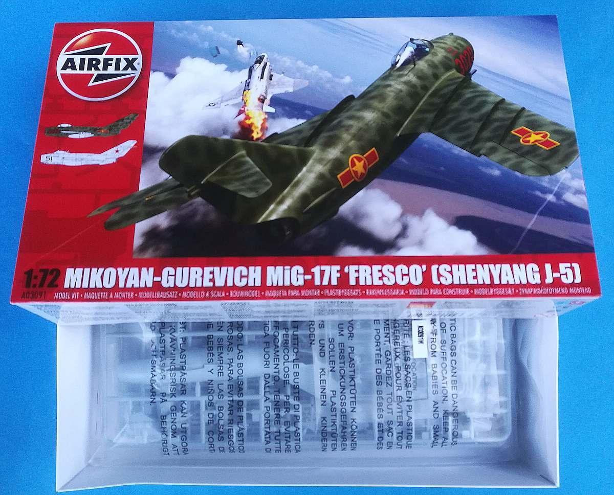 Airfix-03091-MiG-17-Karton MiG-17 Fresco in 1:72 von Airfix # A 03091