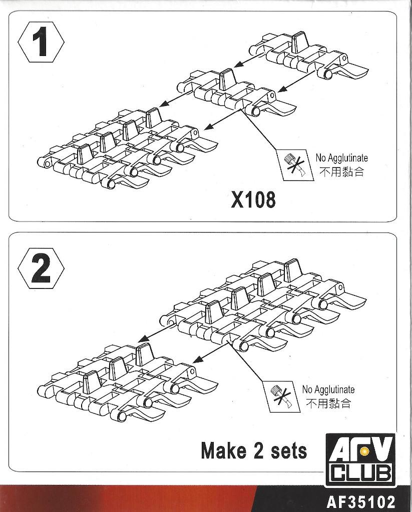 Anleitung Centurion Tracklink for All Type 1:35 AFV Club (#AF35103)