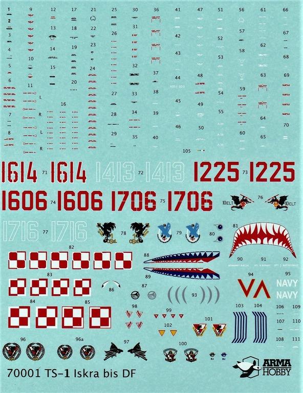 """Arma-Hobby-70001-TS-11-Iskra-DeLuxe-29 TS-11 bis DF """"Iskra"""" von Arma Hobby Deluxe-Set in 1:72 #70001"""