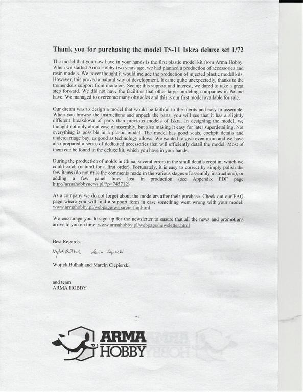 """Arma-Hobby-70001-TS-11-Iskra-DeLuxe-30 TS-11 bis DF """"Iskra"""" von Arma Hobby Deluxe-Set in 1:72 #70001"""