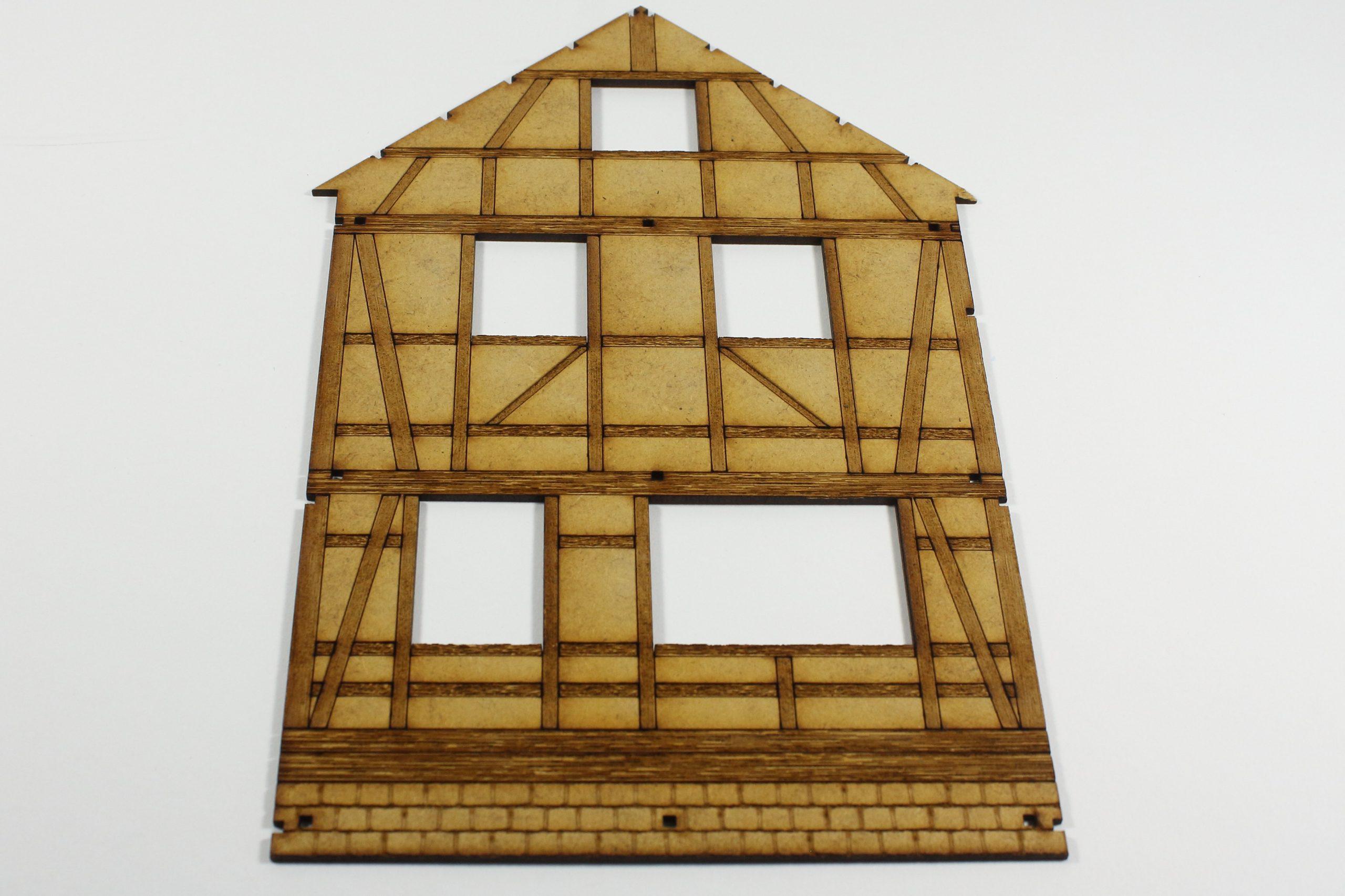 Bild-1-scaled Fachwerkhaus mit Holzschuppen - Lasercut Modellbaushop 1:35
