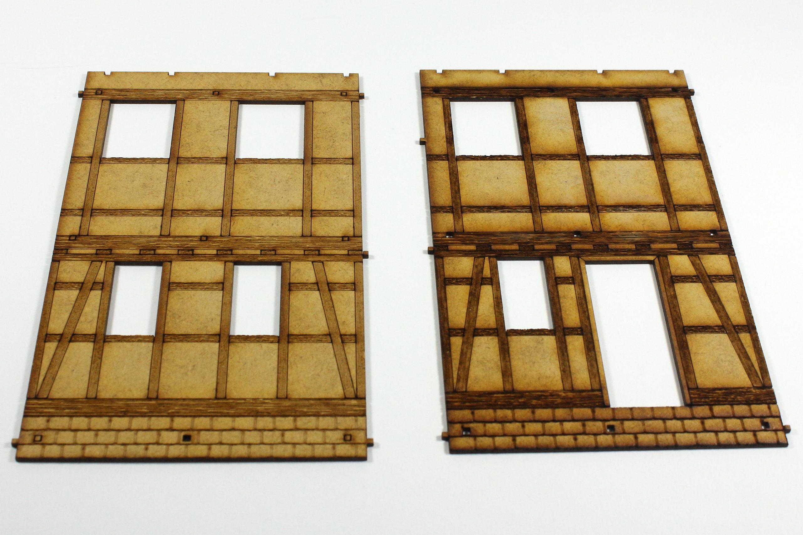 Bild-2-scaled Fachwerkhaus mit Holzschuppen - Lasercut Modellbaushop 1:35