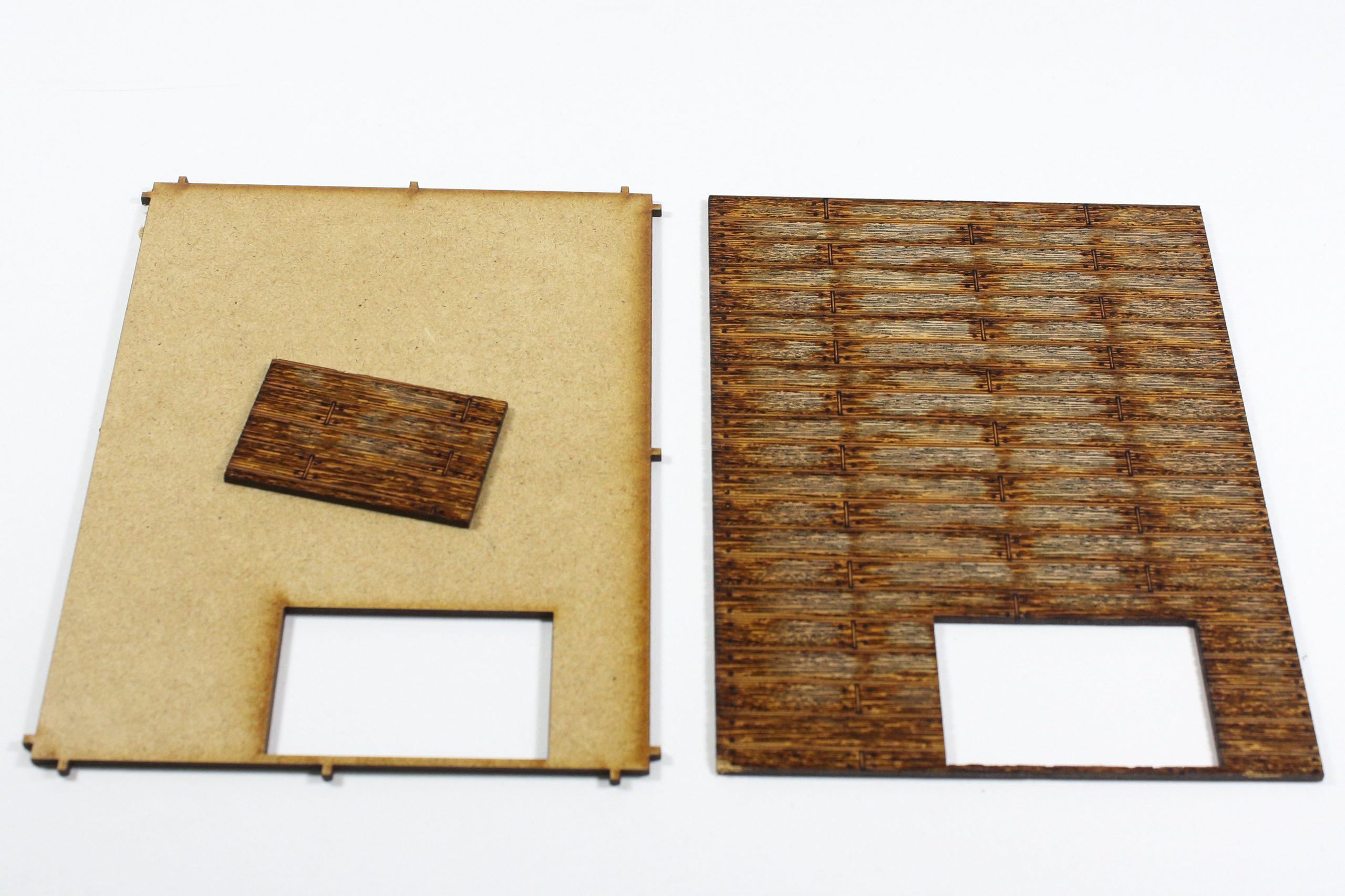 Bild-4-scaled Fachwerkhaus mit Holzschuppen - Lasercut Modellbaushop 1:35