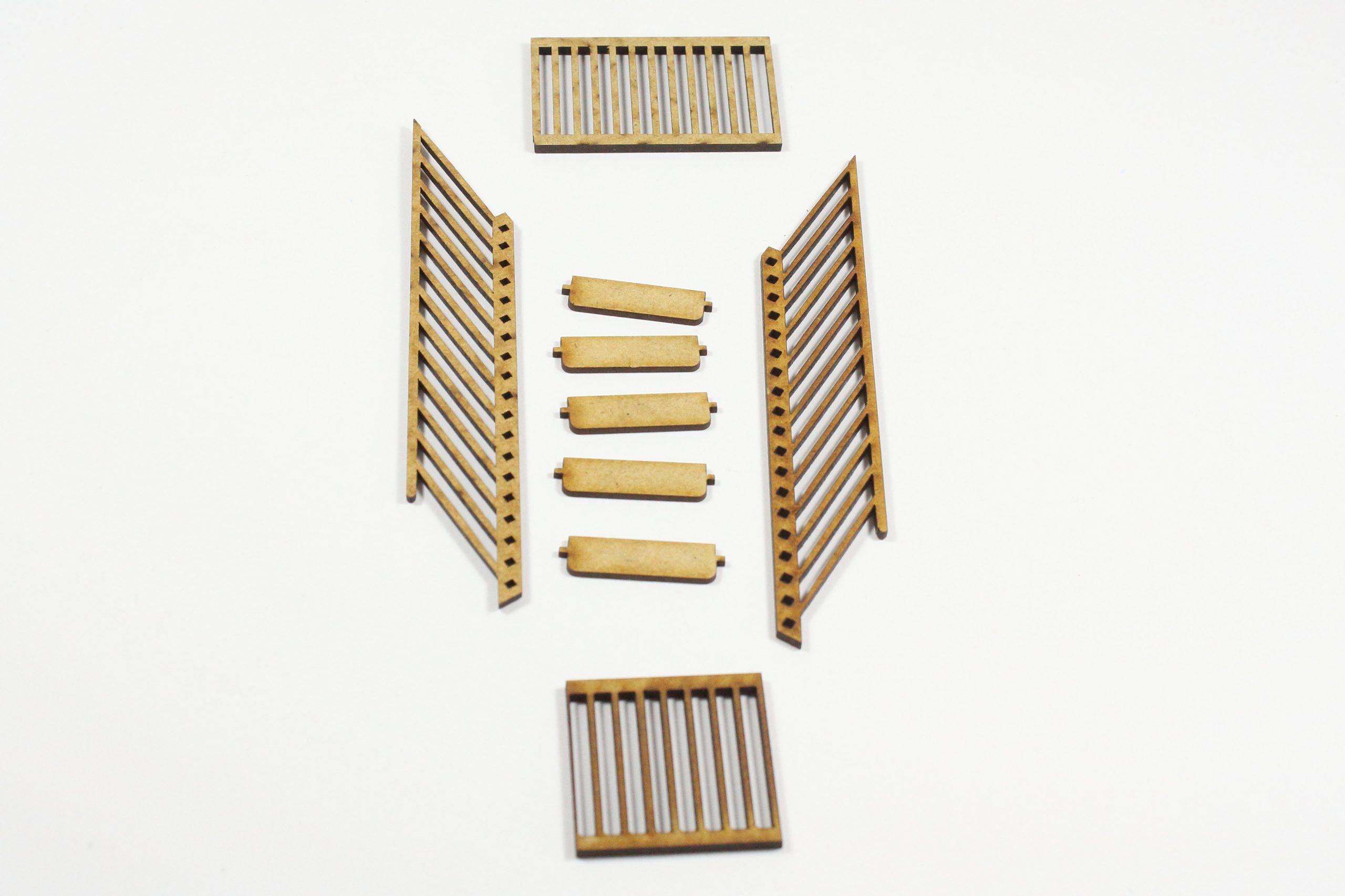 Bild-6-scaled Fachwerkhaus mit Holzschuppen - Lasercut Modellbaushop 1:35