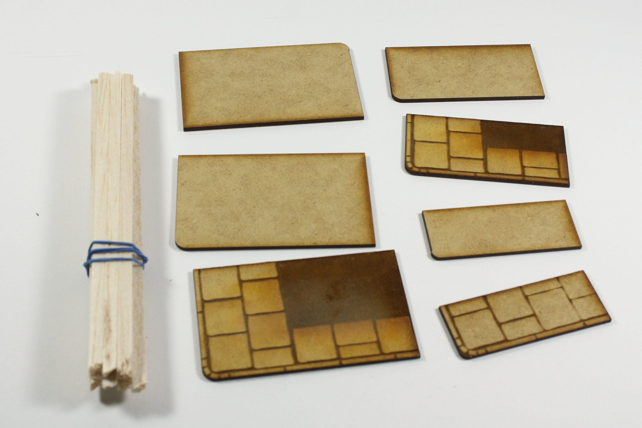 Bild-7-scaled Fachwerkhaus mit Holzschuppen - Lasercut Modellbaushop 1:35