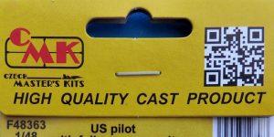 CMK US Pilot with full pressure suit in 1:48 # F48363