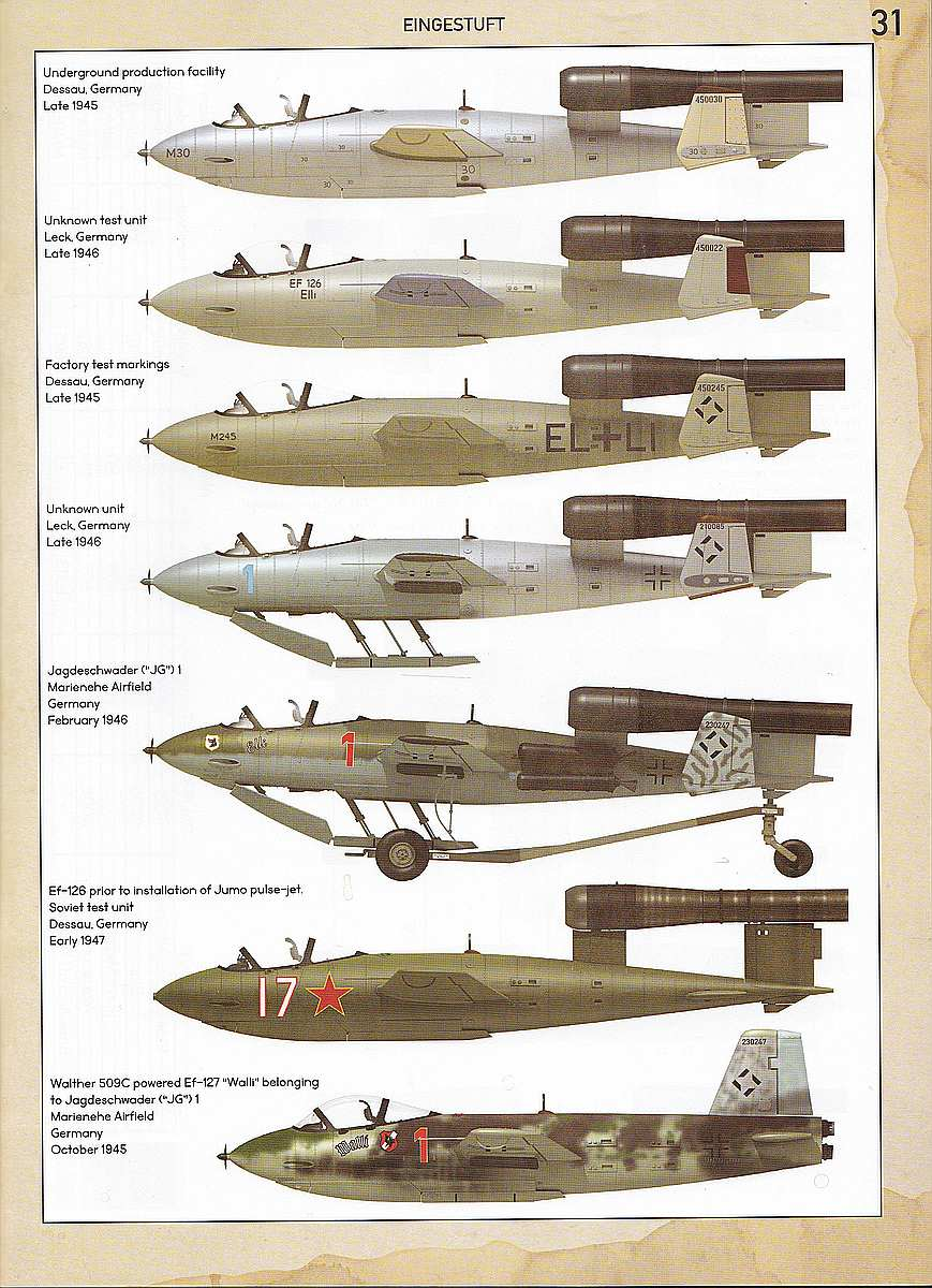 Das-Werk-DW-32001-Junkers-Ef-126-Elli-Ef-127-Walli-Bemalungsanleitung-1 Junkers EF 126 / 127 Elli / Walli in 1:32 von Das Werk #DW32001