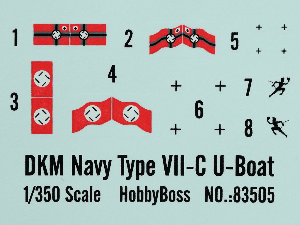 Decals-1 DKM Navy Type VII-C U-Boat Hobby Boss 1:350 (#83505)