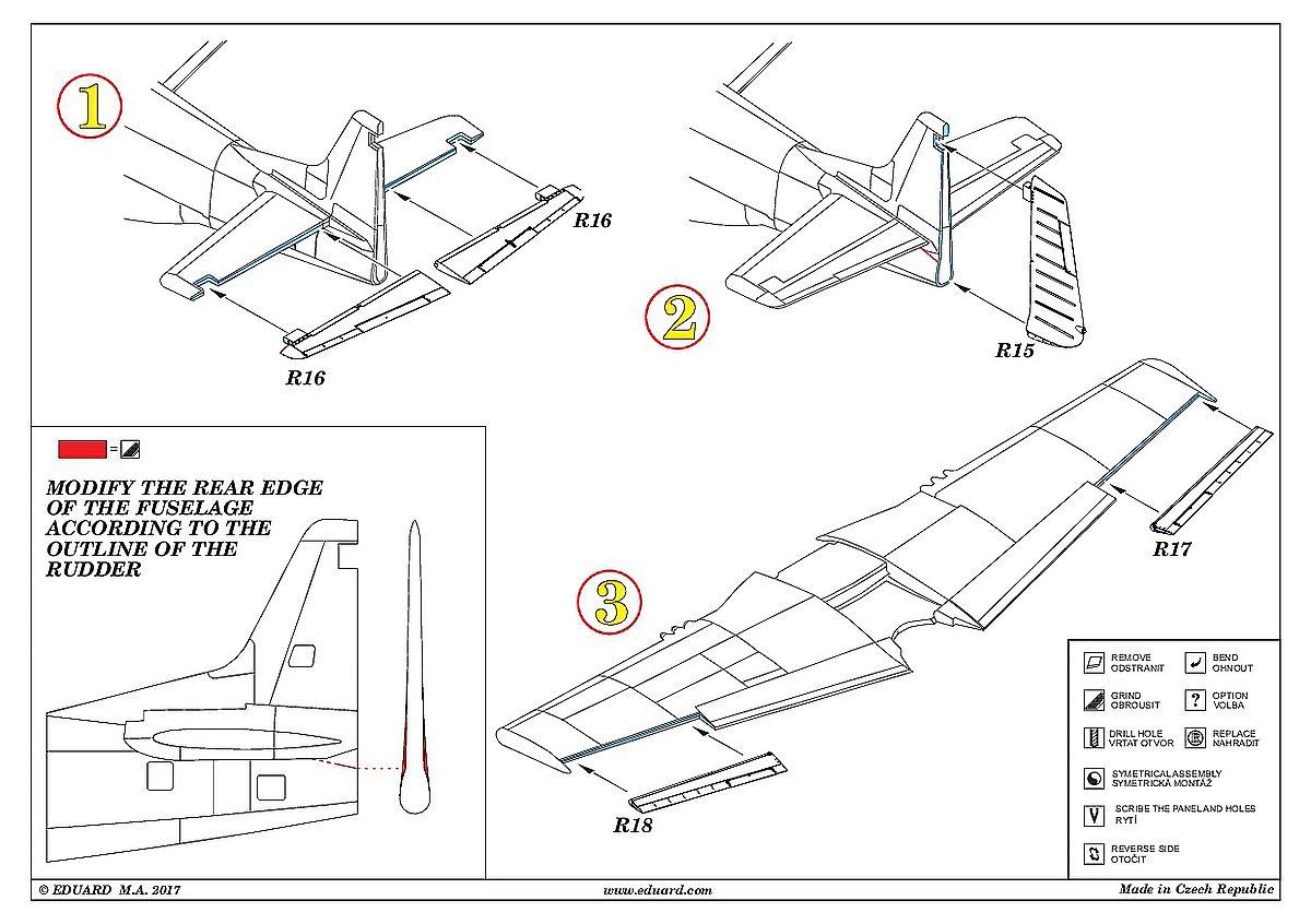 Eduard-648345-P-51D-Control-surfaces-for-Airfix-3 Eduard Zubehör für die P-51D in 1:48 von Airfix Teil 2
