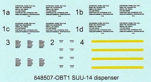 Eduard-648507-SUU-14-Dispenser-11 SUU-14 Dispenser/Streubombenwerfer von Eduard in 1:48 #648507