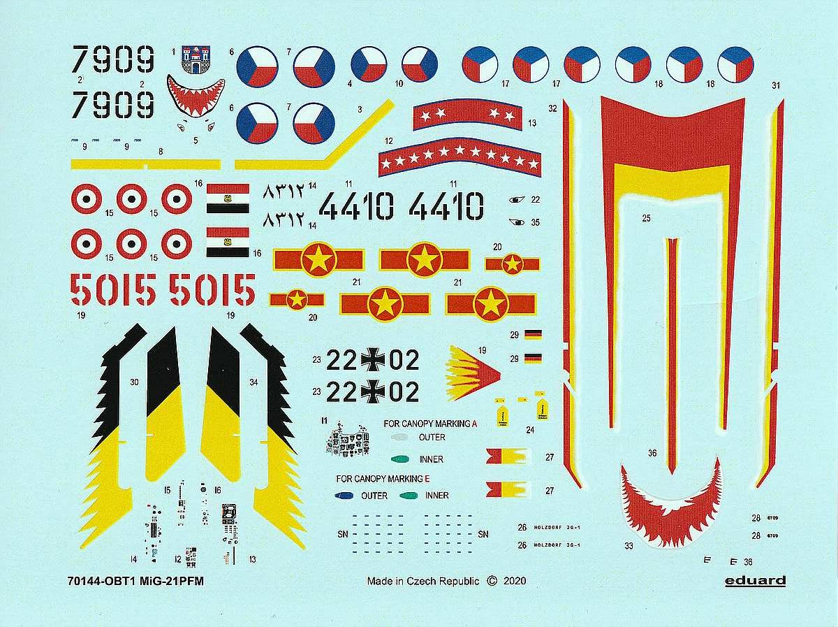 Eduard-70144-MiG-21-PFM-ProfiPack-18-rotated MiG-21PFM in 1:72 von Eduard #70144