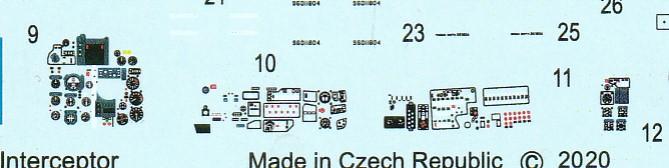 Eduard-7453-MiG-21MF-WEEKEND-Decals-Instrumente MiG-21MF in 1:72 von Eduard als WEEKEND-Edition #7453