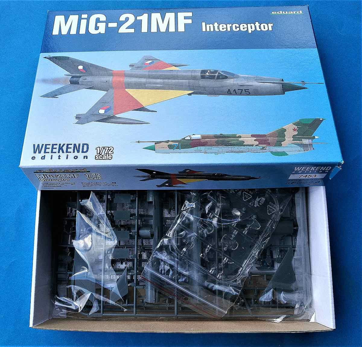 Eduard-7453-MiG-21MF-Weekend-2 MiG-21MF in 1:72 von Eduard als WEEKEND-Edition #7453