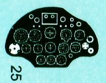 Eduard-8149-Decal-Instrumentebrett Polikarpov I-16 Typ 24 (Eduard 8149)
