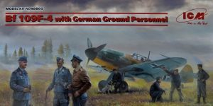Messerschmitt Bf 109 F-4 + German Ground Personnel in 1.48 von ICM #48805