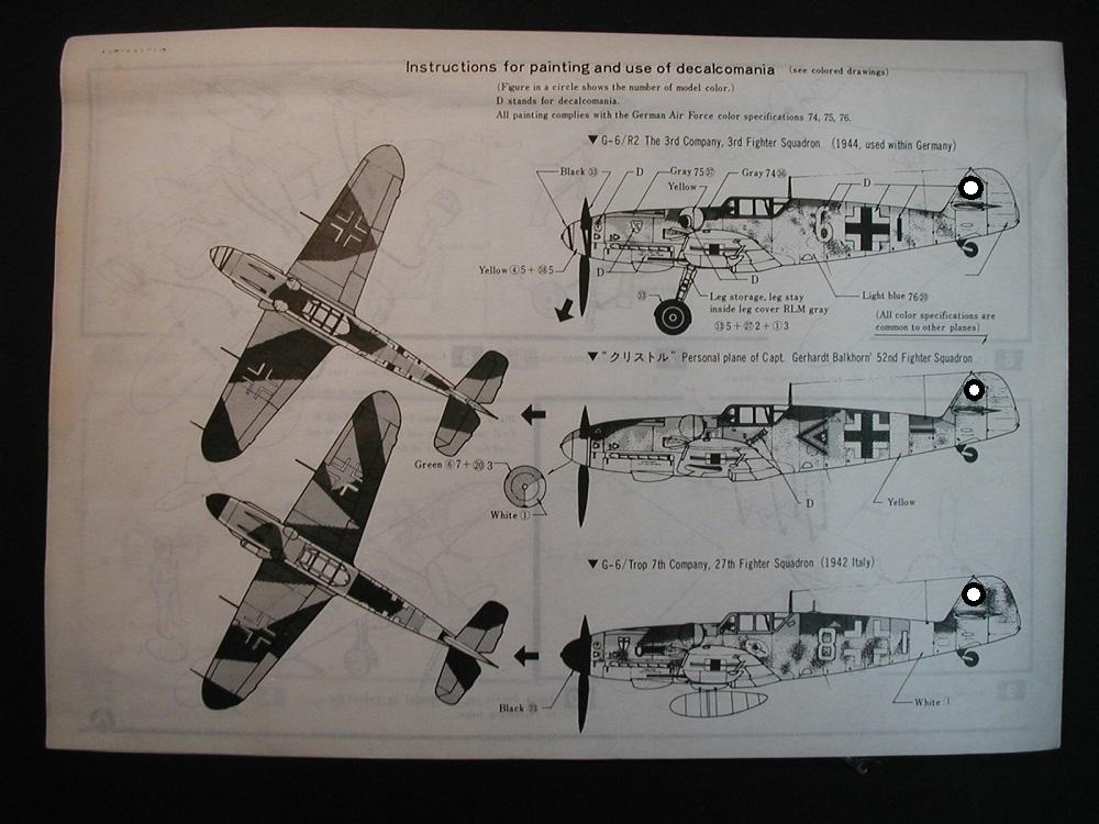 OTAKI-OT-9156-Bf-109-G-6-19 Messerschmitt Bf 109 G-6 in 1:48 von Otaki #OT-9156