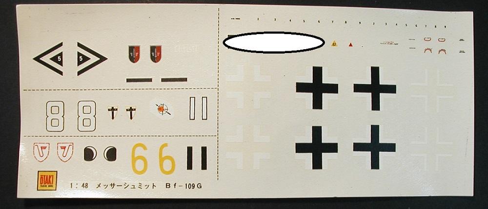 OTAKI-OT-9156-Bf-109-G-6-3 Messerschmitt Bf 109 G-6 in 1:48 von Otaki #OT-9156