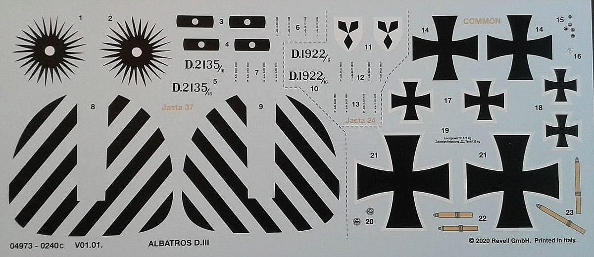 Revell-04973-Albatros-D-14 Albatros D.III in 1:48 von Revell # 04973
