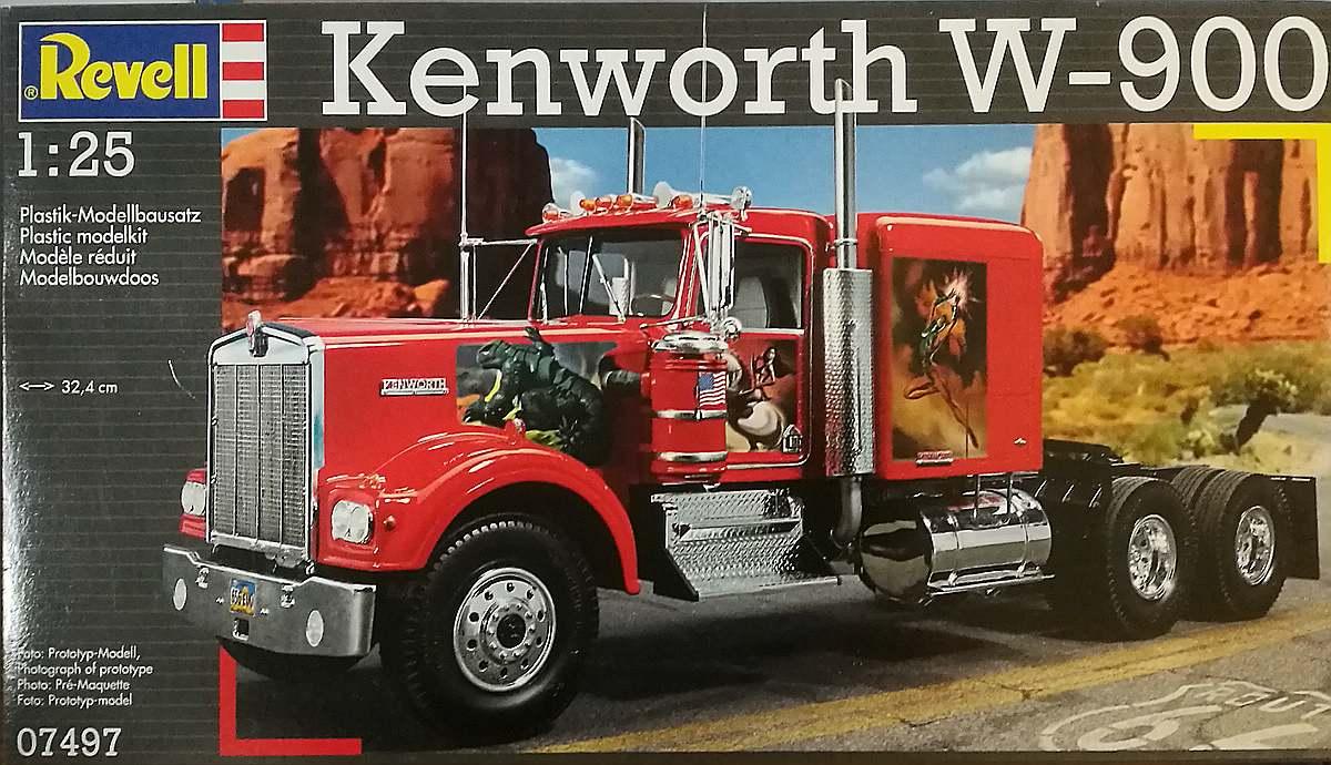 Revell-07497-Kenworth-W-900 Kenworth W-900 in 1:25 von Revell #07659
