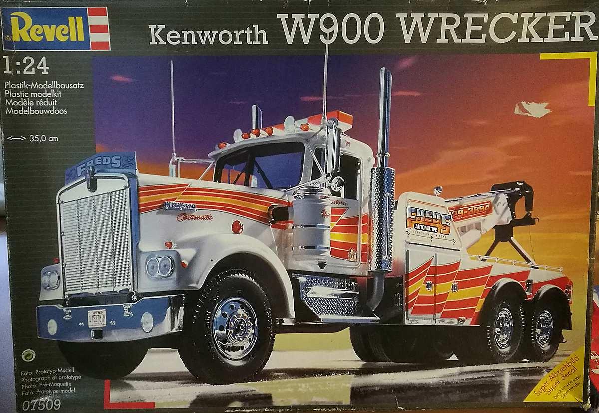 Revell-07509-kenworth-Wrecker-1zu24 Kenworth W-900 in 1:25 von Revell #07659