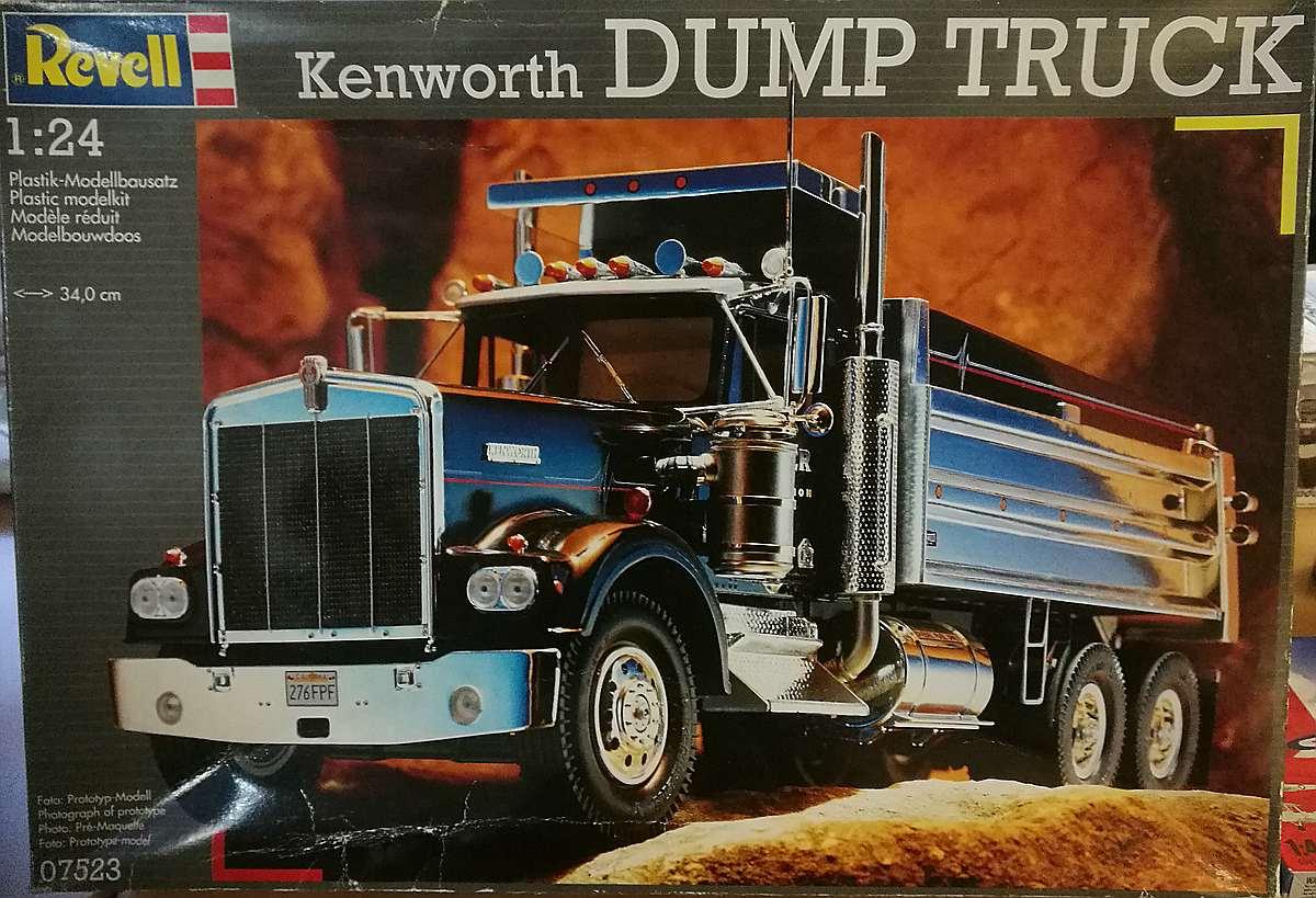 Revell-07523-Kenworth-Dumptruck-1zu24 Kenworth W-900 in 1:25 von Revell #07659