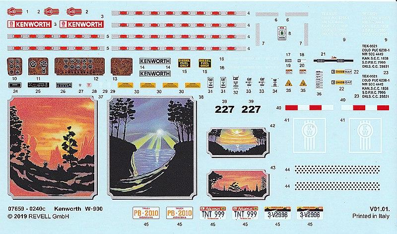 Revell-07659-Kenworth-W-900-25 Kenworth W-900 in 1:25 von Revell #07659