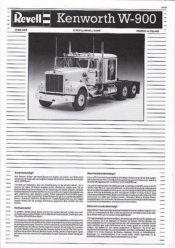 Revell-07659-Kenworth-W-900-4 Kenworth W-900 in 1:25 von Revell #07659