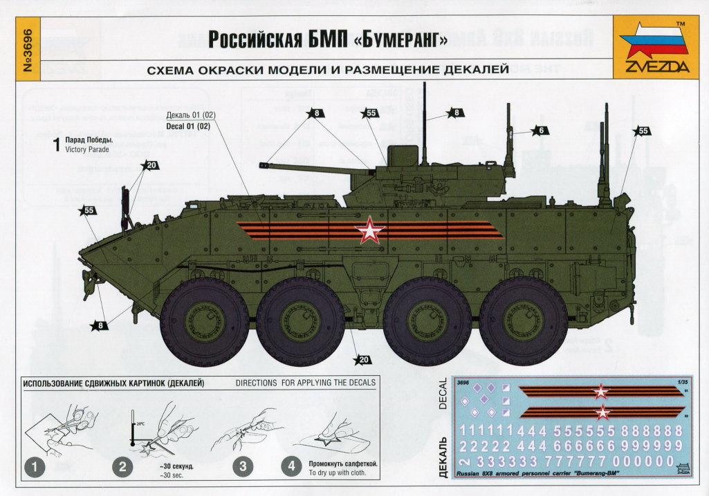 "Review_Zvezda_Bumerang_45 Russian 8x8 APC ""BUMERANG"" - Zvezda 1/35"