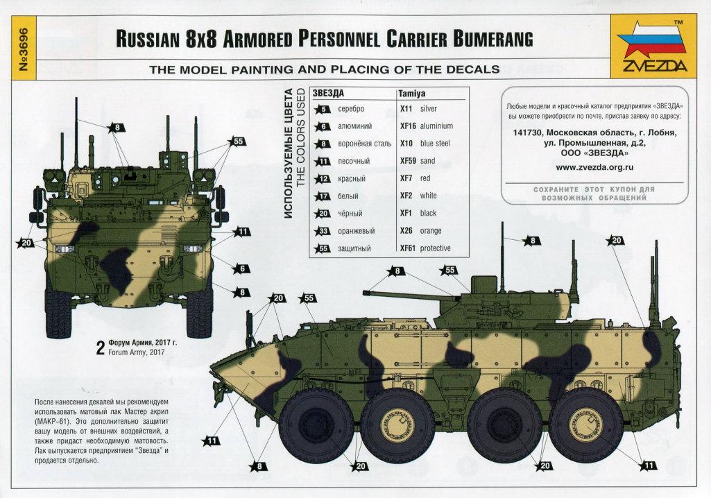 "Review_Zvezda_Bumerang_46 Russian 8x8 APC ""BUMERANG"" - Zvezda 1/35"