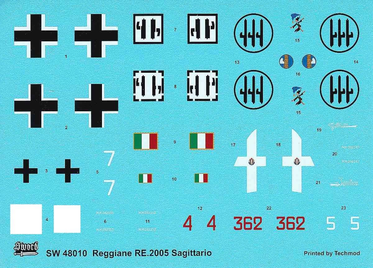 SWORD-48010-Reghiane-Re-2005-Sagittario Reggiane Re 2005 Sagittario in 1:48 von SWORD #48010