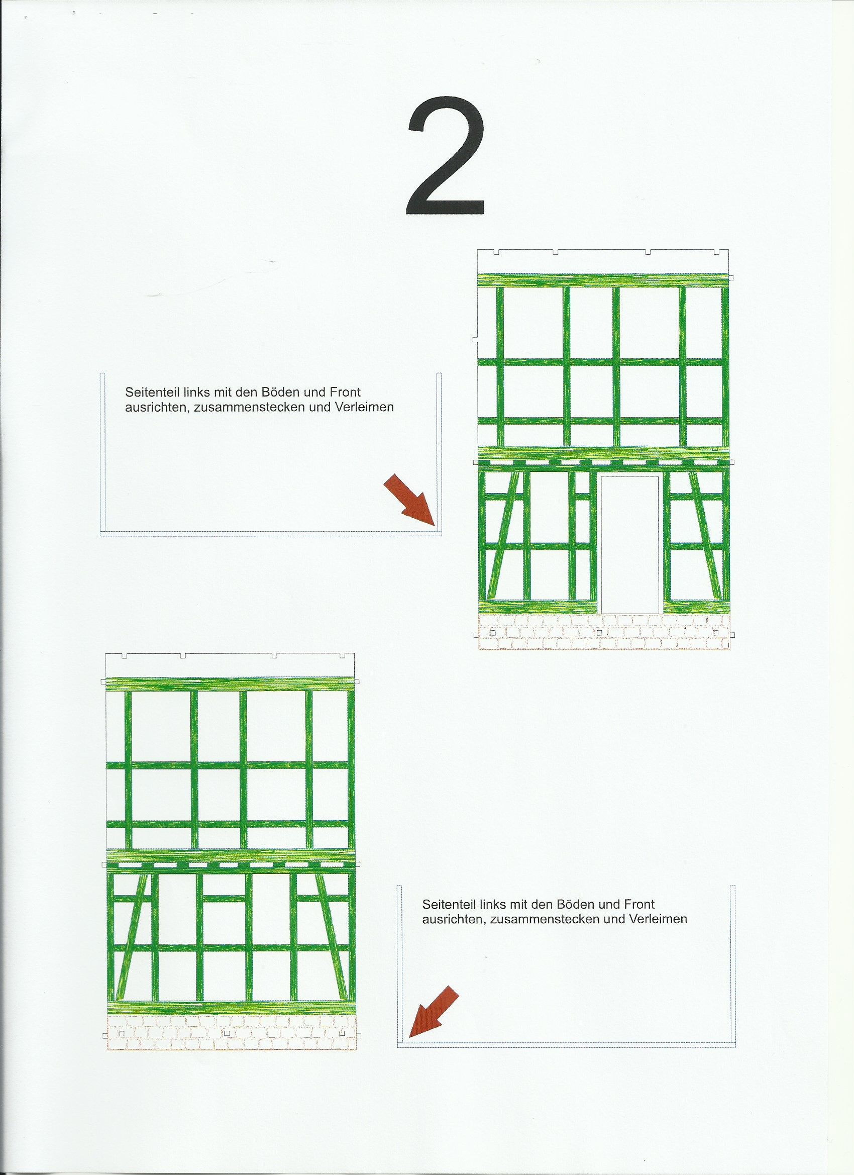 Scan_20200413-2 Fachwerkhaus mit Holzschuppen - Lasercut Modellbaushop 1:35