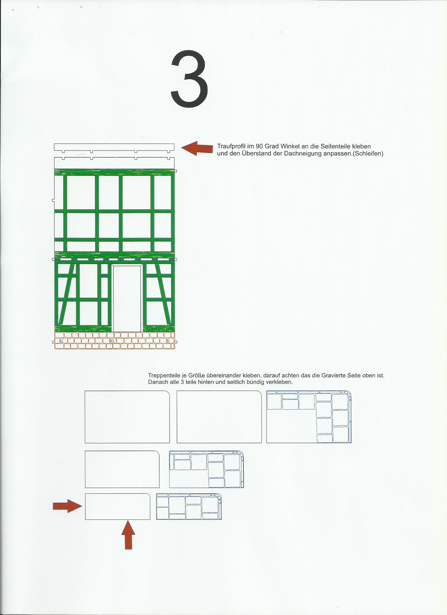 Scan_20200413-3 Fachwerkhaus mit Holzschuppen - Lasercut Modellbaushop 1:35