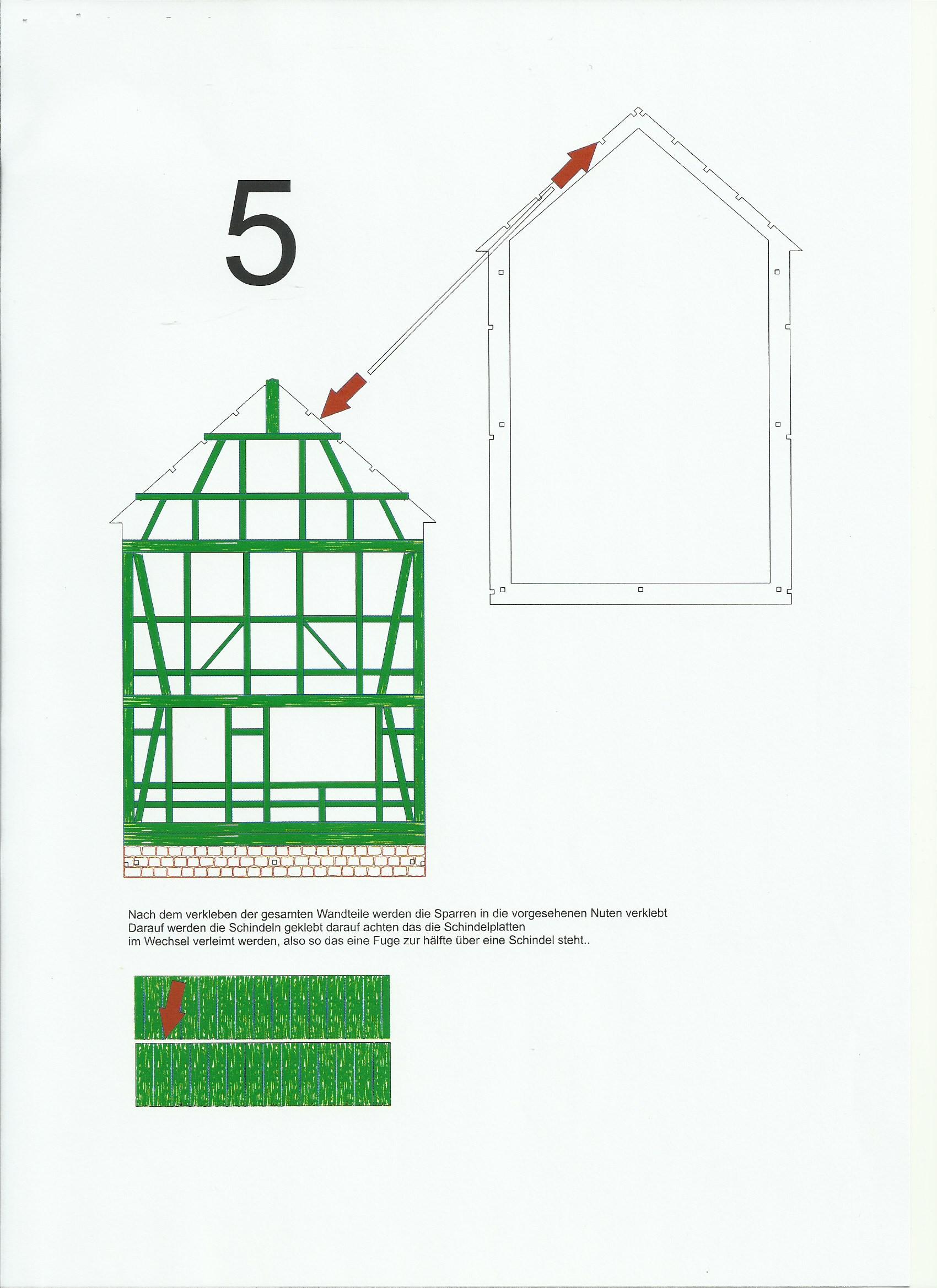 Scan_20200413-5 Fachwerkhaus mit Holzschuppen - Lasercut Modellbaushop 1:35