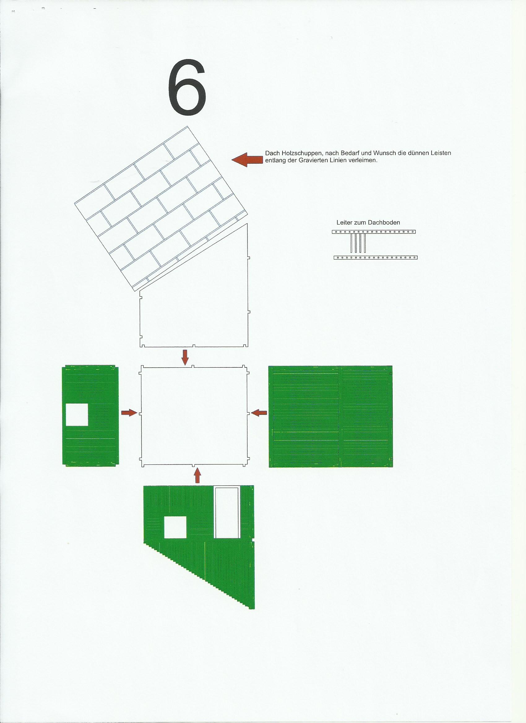 Scan_20200413-6 Fachwerkhaus mit Holzschuppen - Lasercut Modellbaushop 1:35