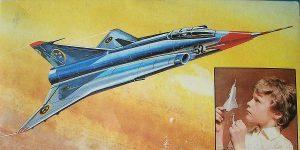 Kit-Archäologie: Saab Draken in 1:100 von VEB Plasticart