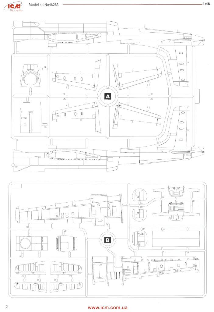 Anleitung02-1 Douglas A-26С-15 Invader ICM 1:48 (#48283)